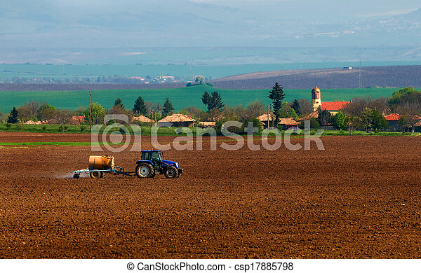 agricultural tractor - csp17885798