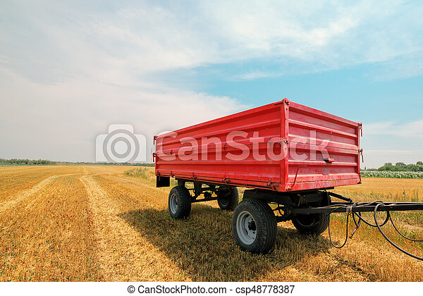 Agricultural tractor trailer - csp48778387
