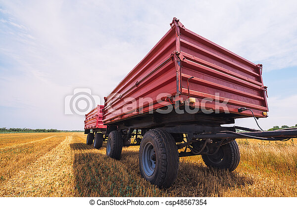 Agricultural tractor trailer - csp48567354