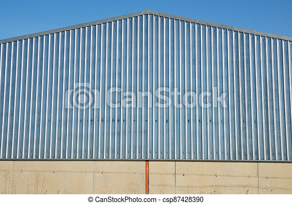 Agricultural warehouse view - csp87428390