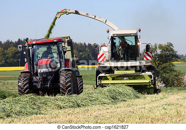 Agricultural work with a chopper - csp1621827