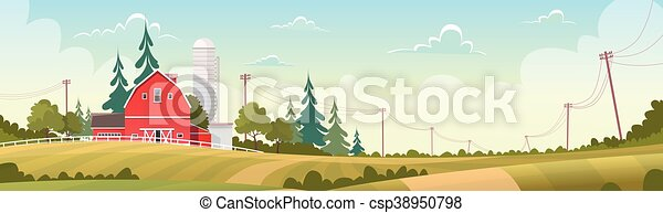 Agriculture And Farming, Farmland Countryside Landscape - csp38950798