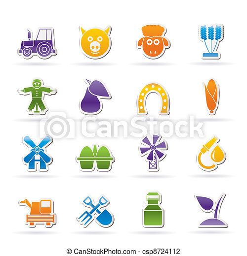 Agriculture and farming icons  - csp8724112