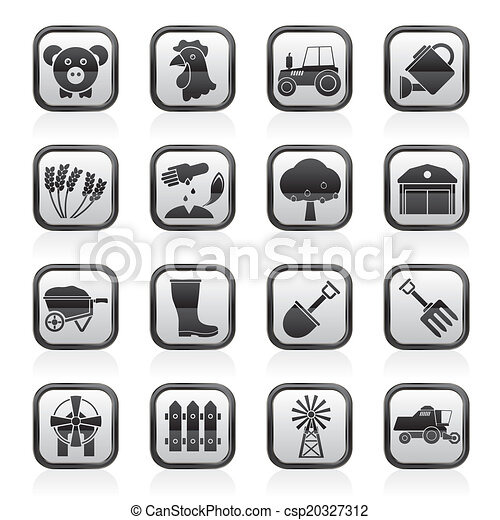Agriculture and farming icons - csp20327312