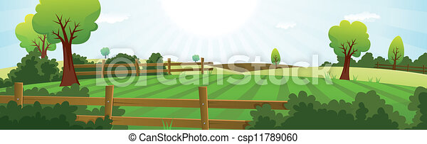 Agriculture And Farming Summer Landscape - csp11789060