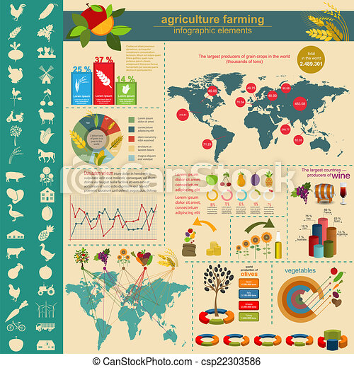 Agriculture, farming infographics.  - csp22303586