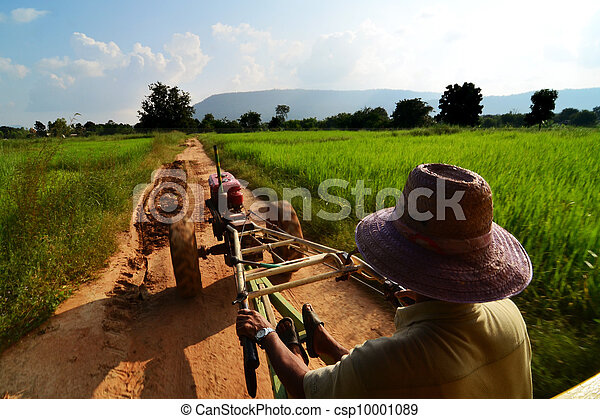 agriculture field green industrial farm land panoramic landscape scenic view across hills - csp10001089