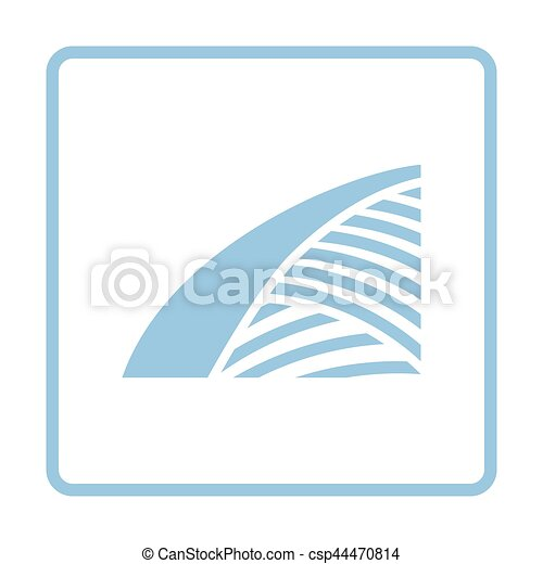 Agriculture field icon - csp44470814