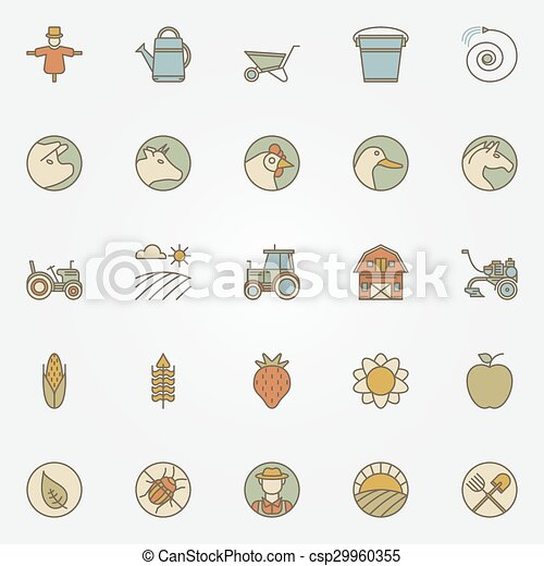 Agriculture icons collection - csp29960355