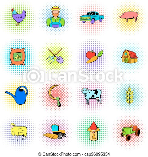 Agriculture icons set - csp36095354