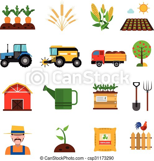 Agriculture Icons Set - csp31173290