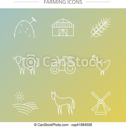 Agriculture icons set. - csp41884508