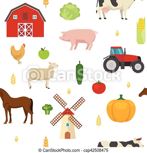 Agriculture Seamless Pattern - csp42508475