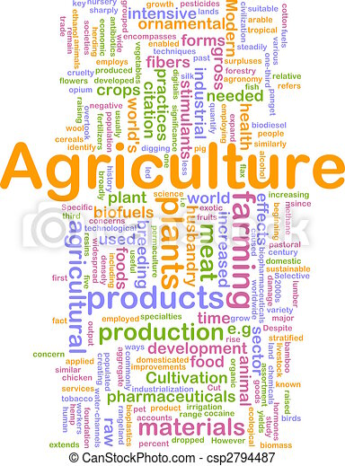 Agriculture word cloud. Word cloud concept illustration of ...
