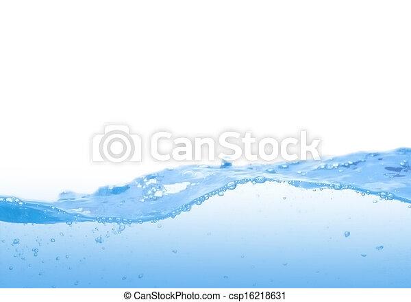 Onda de agua azul - csp16218631