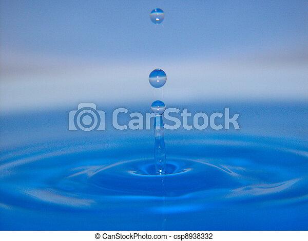 agua azul, salpicadura, 1 - csp8938332