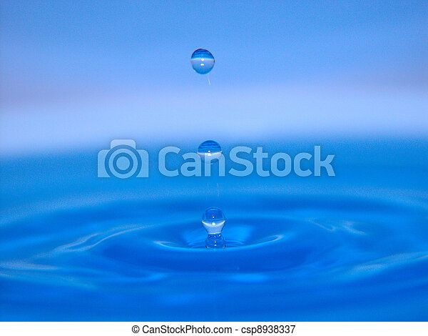 agua azul, salpicadura, 1 - csp8938337