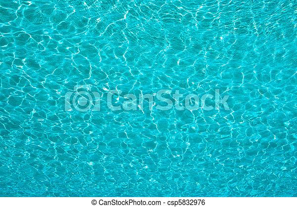 Textura de agua azul - csp5832976