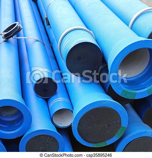 Tuberías de agua azul - csp35895246