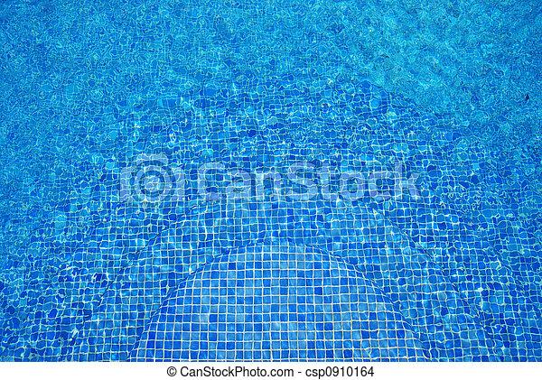 Trasfondo de agua azul turquesa. - csp0910164
