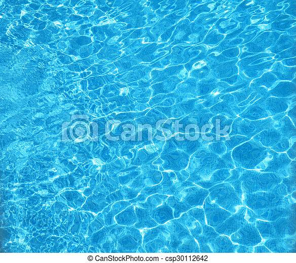 Agua de piscina azul turquesa - csp30112642