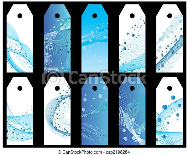 agua, bookmarks, conjunto - csp2198284