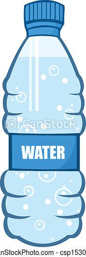 Botella De Agua Agua, caricatur...