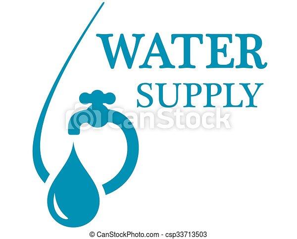 Ícono de suministro de agua - csp33713503