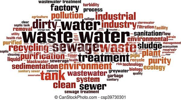 Horizonte de agua desperdiciada - csp39730301