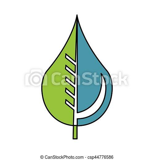Grfico vectorial de agua emblema gota hoja puro  agua pura
