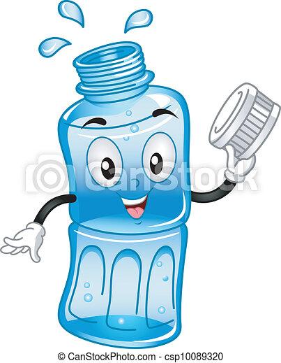Ilustracin vectorial de agua embotellado mascota  Mascot