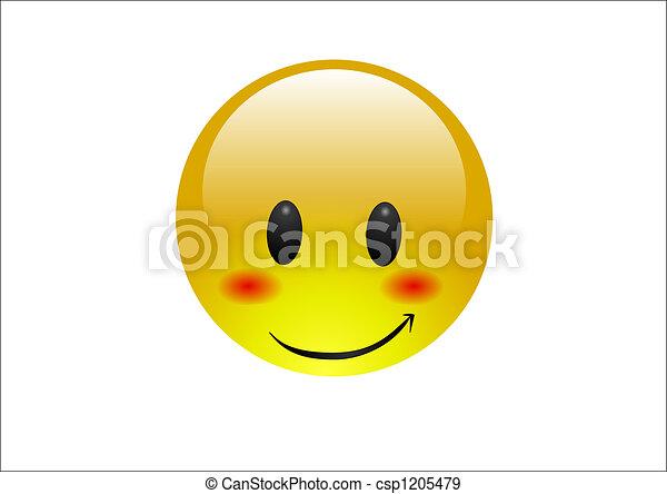 Aqua emoticons - sonrojo tímido - csp1205479