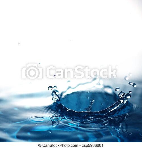 agua, fresco, burbujas - csp5986801