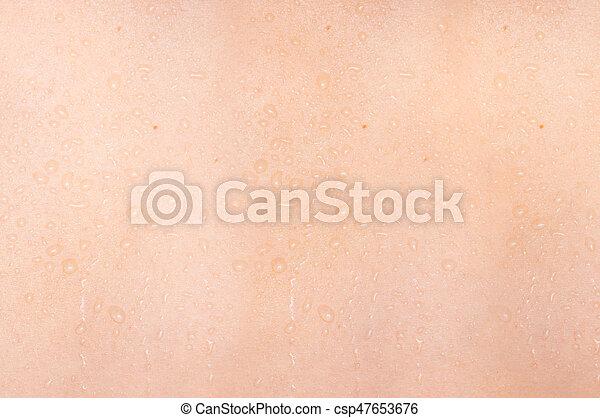 agua, gotitas, plano de fondo, piel - csp47653676