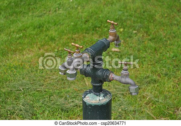 Tapas de agua - csp20634771