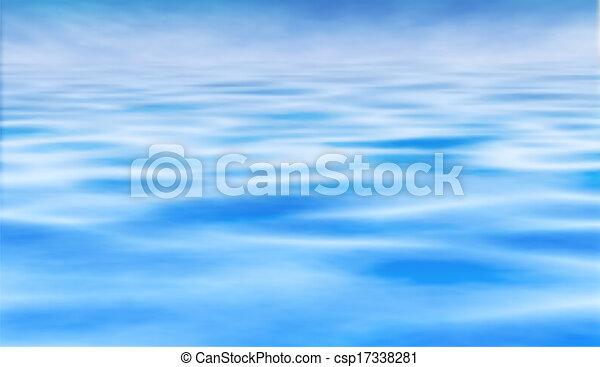 agua, horizonte - csp17338281