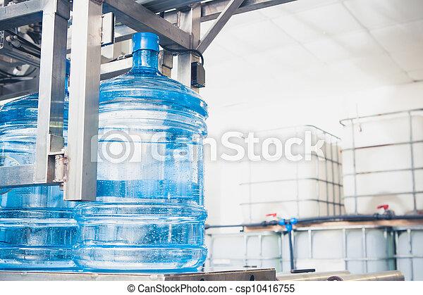 agua, línea, producción - csp10416755