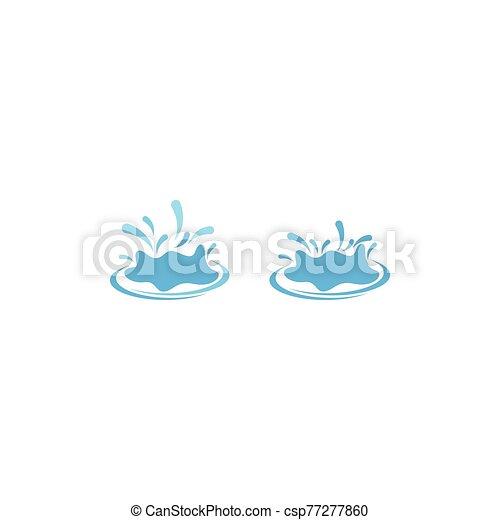 agua, logotipo, salpicadura - csp77277860