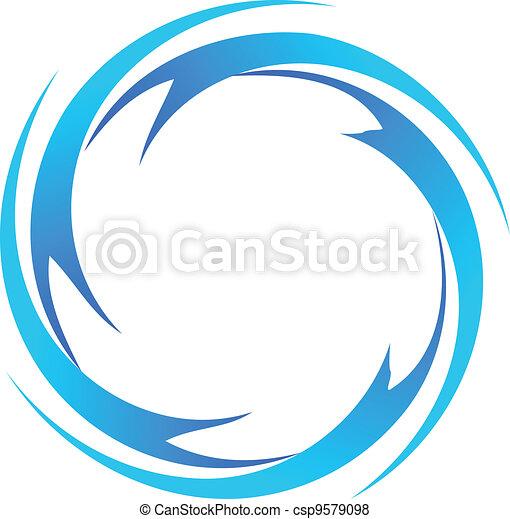 agua, logotipo, vector, ondas - csp9579098