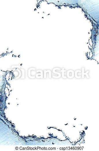 agua, marco, salpicadura - csp13460907