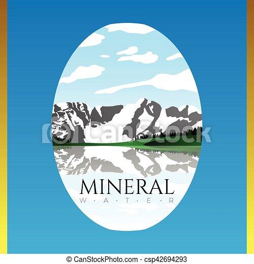 agua, mineral, ilustración - csp42694293