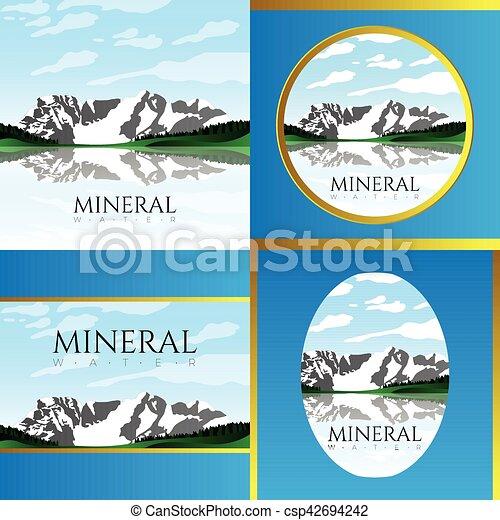 agua, mineral, ilustración - csp42694242