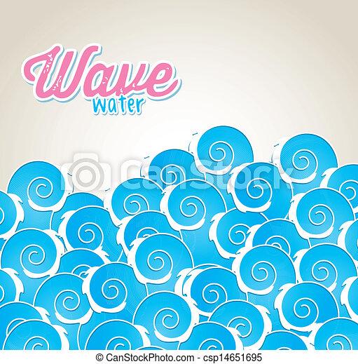 agua, onda - csp14651695