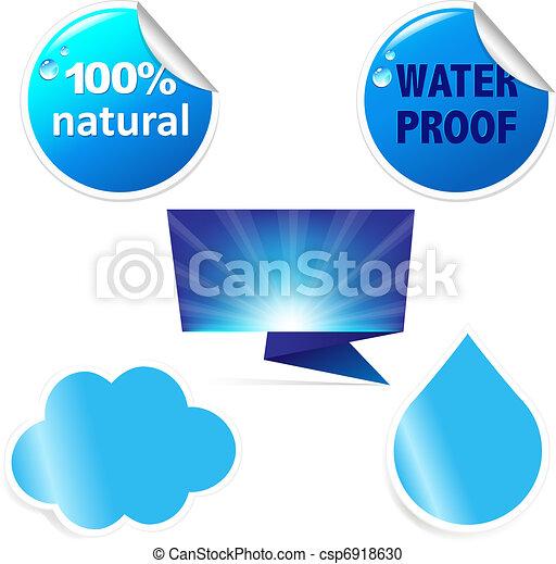 agua, pegatina - csp6918630