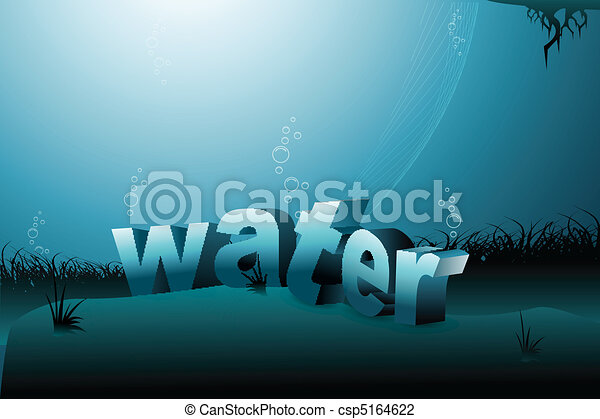 agua, plano de fondo - csp5164622