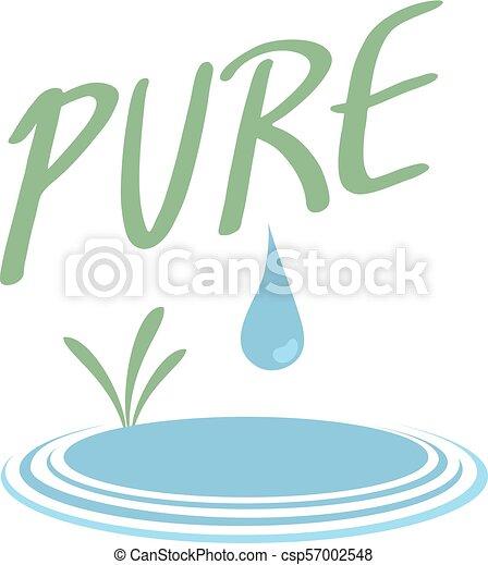 agua, puro, ilustración - csp57002548