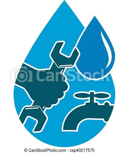 Reparando cañerías y suministro de agua - csp40217570