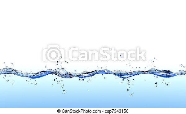 agua, salpicadura - csp7343150