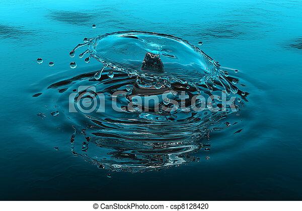 agua, salpicadura - csp8128420