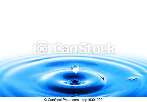 agua, salpicadura - csp16391290